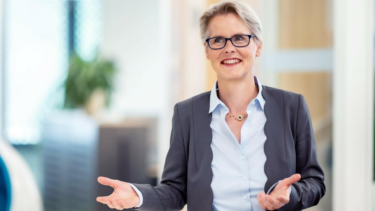 Birgit Frohnnhoff im Gespräch.