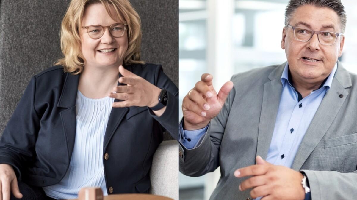 Montage: Ralf Teufel und Daniela Bücker jewiels in einer Gesprächssituation