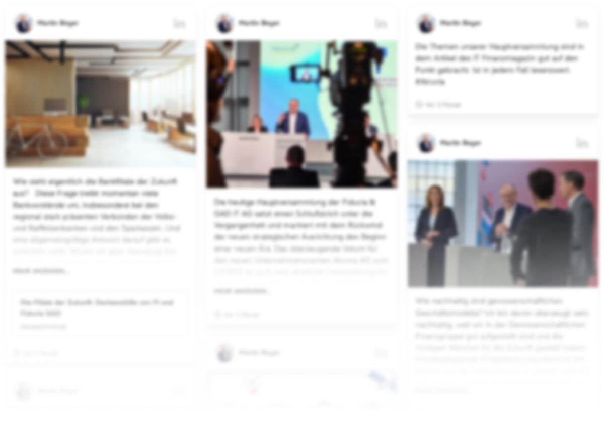 Vorschau einer Social Media Wall
