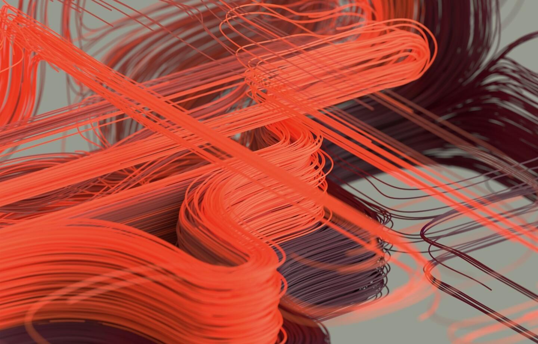 Abstraktes Rendering: Viele Linie bilden organische Formen