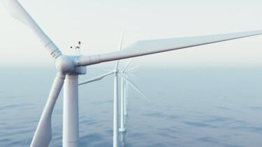 Windrad in einem Offshore Windpark