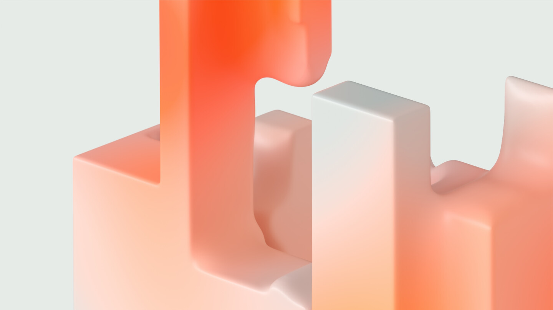 Abstrakte Formen der Marke Atruvia